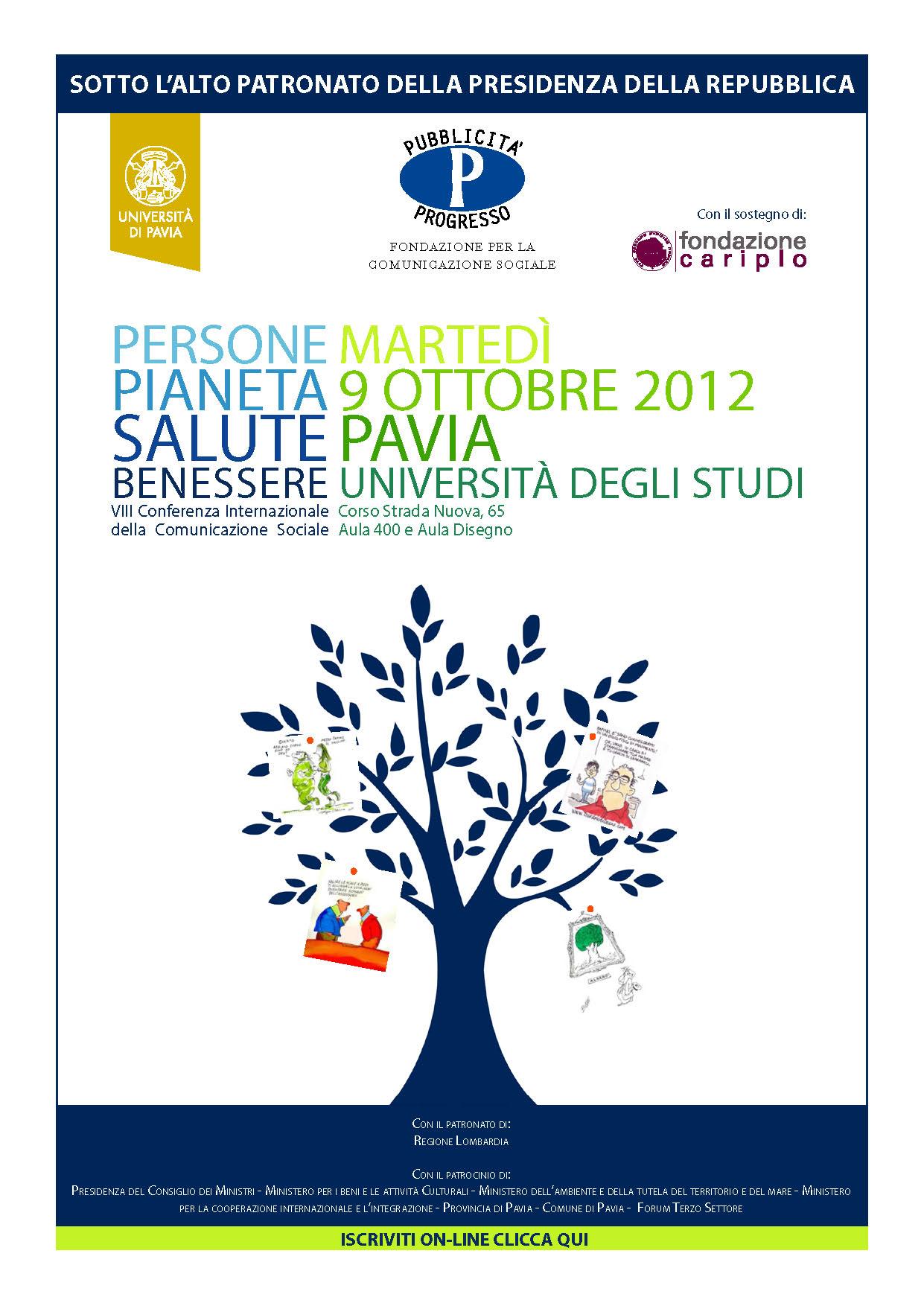 Viii Conferenza Internazionale Di Pubblicita Progresso Persone Pianeta Salute Benessere Inchiostro