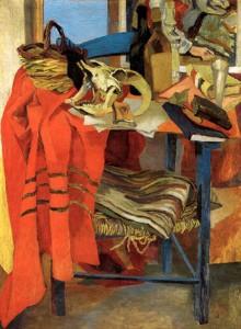 Guttuso - Natura morta con drappo rosso 1942