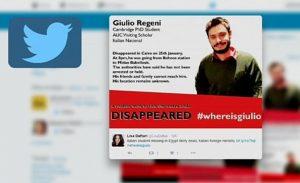 #whereisGiulio Twitter dopo la scomparsa di Giulio Regeni il 25 genaio