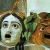 Le due maschere, tragica e comica, del teatro latino. Mosaico del I secolo a.C. (Musei Capitolini)