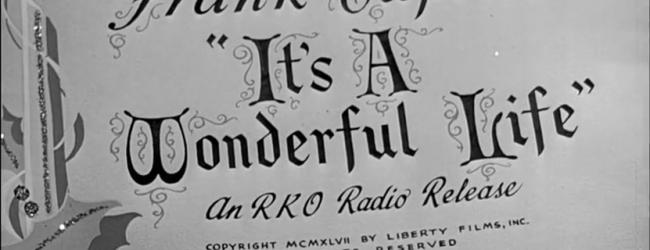 """Il promemoria di Frank Capra: """"La vita è meravigliosa"""""""