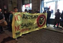 Cronaca di un comizio di Matteo Salvini a Pavia