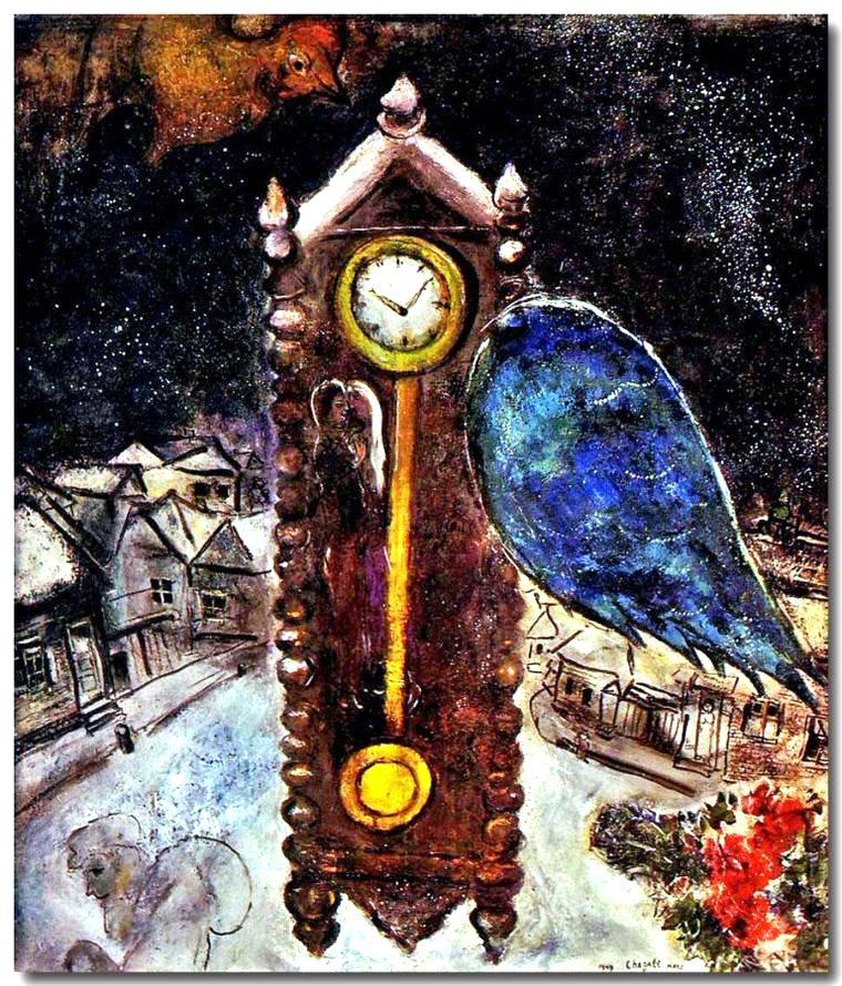 Marc Chagall, La pendola dall'ala blu (1949), collezione privata