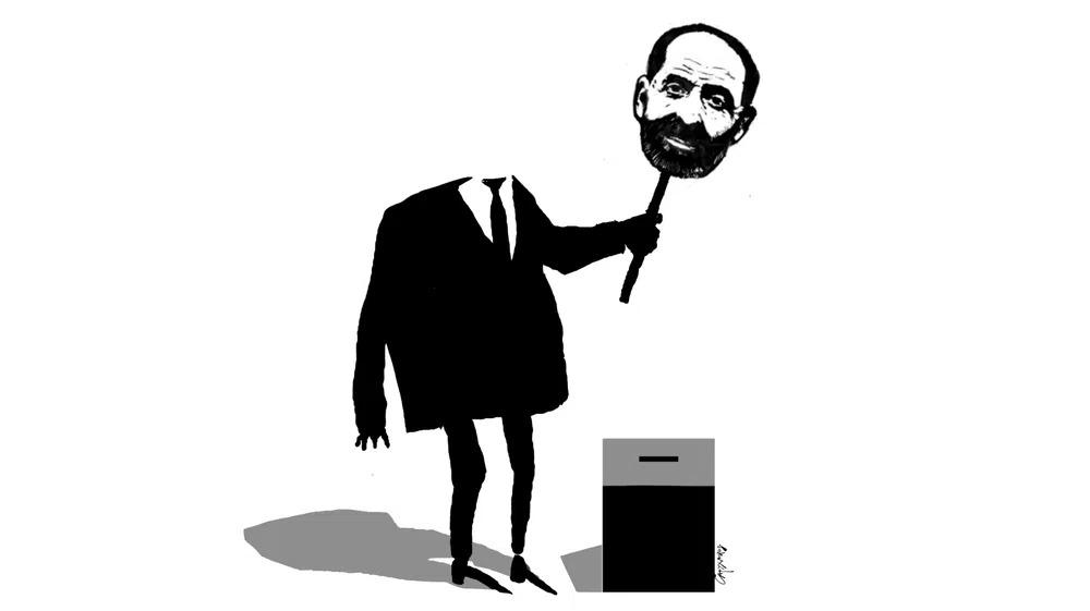 L'immagine che accompagna l'inchiesta di Novaya Gazeta sui candidati cloni di Boris Vishnevsky